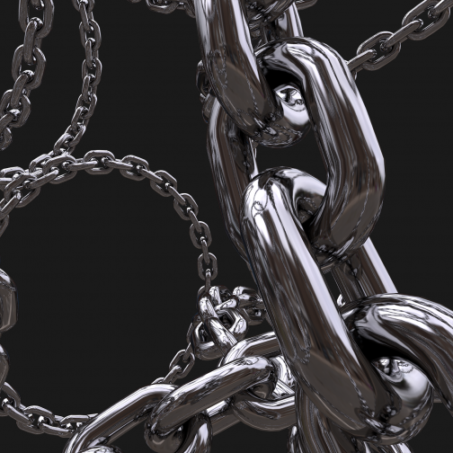 3D Render of Chains
